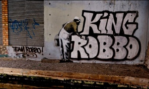 MDG : Banksy and King Robbo grafitti in Camden, north London